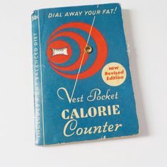 Vintage Vest Pocket Calorie Counter  Dial Away Your Fat  Mid
