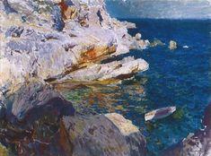 JOAQUÍN SOROLLA Spanish Painters, Spanish Artists, Modern Artists, Landscape Paintings, Oil On Canvas, Art Gallery, Fine Art, Visual Arts, Cityscapes