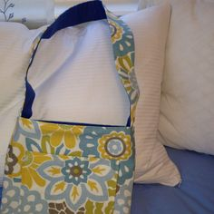 Close up of my lined bag sewing project!