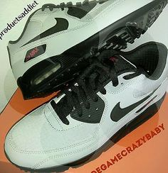 official photos 23b74 7930b NIKE AIR MAX 90 ESSENTIAL - WOLF GREY BLACK UNIVERSITY RED NIGHT CLUB size11 .5