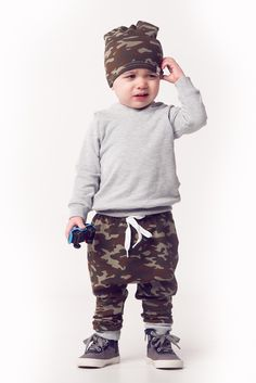 Camo hoodie and joggers by Portage and Main