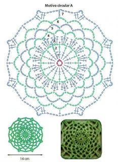 The most popular Crochet Tunic Motif Mandala Crochet, Crochet Mittens Free Pattern, Crochet Snowflake Pattern, Crochet Motifs, Crochet Diagram, Freeform Crochet, Crochet Chart, Crochet Stitches, Crochet Doilies