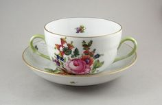 Really pretty piece of Herend porcelain, small for a soup cup maybe for consommé?