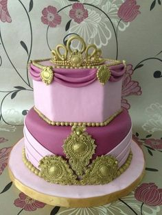 Regal Princess Cake ~ all edible Little Girl Birthday, Mum Birthday, Birthday Parties, Birthday Ideas, Princess Party, Princess Cakes, Creative Cakes, Party Cakes, Cake Designs