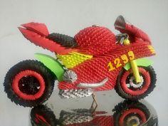 Origami 3d, Origami Ideas, Paper Crafts, Diy Crafts, Paper Folding, Perler Beads, Ducati, Bowser, Pattern