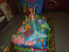 Caly's 5th birthday cake - Little Mermaid