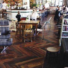Pallets floor in Kex hostel (Iceland)