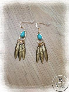 Boucles d'oreille turquoise par ByVibi sur Etsy