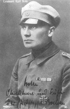German WWI fighter ace, Karl Bolle was born 20/6 1893.