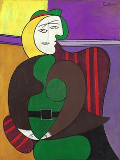 "Pablo Picasso, ""The Red Armchair"", oil and ripolin on panel, 1931. The Art Institute of Chicago."