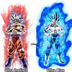 Goku Ultra Instinto Perfect y Vegueta Super Saiyajin Blue Evolution