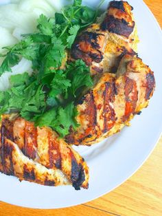 Indian Spiced Grilled Chicken - A simple and flavorful grilled chicken recipe, my Indian spiced yogurt marinade tenderizes lean meat to create a juicy end result your whole family will love. Healthy Chicken, Grilled Chicken, Chicken Recipes, Chicken Marinades, Moist Chicken, Grilled Lamb, Grilled Fish, Butter Chicken, Turkey Recipes