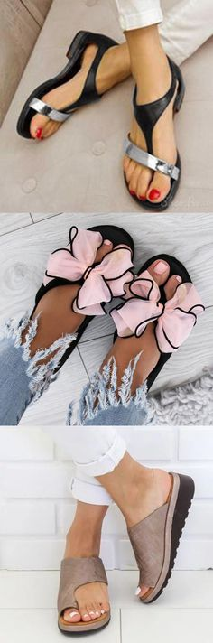 Hot Sale!Thong Sandals Daily Flat Heel Sandals