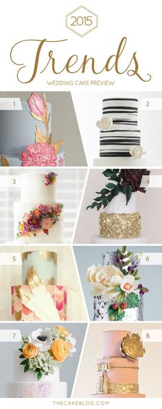 Top cake designers predict cake trends for 2015 and share innovative wedding cake designs | on TheCakeBlog.com