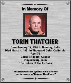 Torin Thatcher Star Trek Actors, Star Trek Characters, Star Trek Original Series, Star Trek Series, Star Trek Crew, 1960s Tv Shows, Memory Wall, Star Trek Images, Star Wars