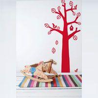 Ferm Living Kids - Bird Tree Wall Sticker (Red)
