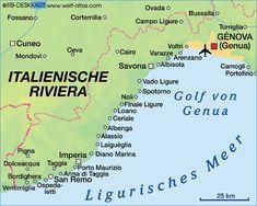 Karte von Italienische Riviera (Italien)