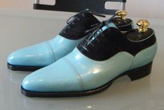 These shoes are radical and I think they would accent the right outfit and they bring the song Blue Suede Shoes to life