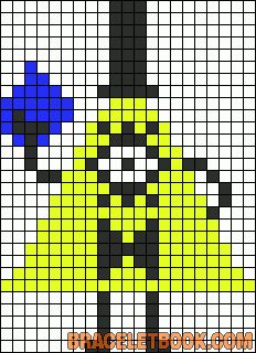 Bill Cipher Gravity Falls perler bead pattern