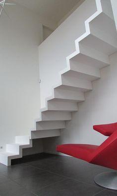 Pearl White designtrap | Design Trappen Vergeert