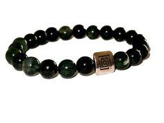 Beaded Bracelets, Etsy Shop, Buddha, Jewelry, Unisex, Stone Bracelet, Man Bracelet, Green Agate, Moss Agate