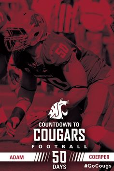 It's 50 days to the start of WSU football. Get to know No. 50 Adam Coerper. #GoCougs