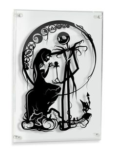 a64722b4cbd Amazon.com  Nightmare Before Christmas Jack Skellington and Sally - hand  cut paper art  Handmade