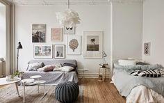 Klein romantisch huis vol poedertinten - Interior Junkie