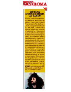 Gio Evan - Musica e ironia al Largo - TrovaRoma - La Repubblica