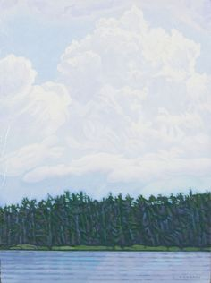 Cloudbank, Lake of the Prairies by Luther Pokrant Canadian Art, Luther, Wilderness, Fine Art, Mountains, Landscape, Artist, Nature, Artwork