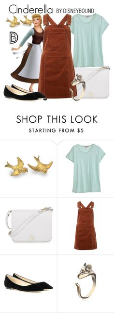 """Cinderella"" by leslieakay ❤ liked on Polyvore featuring Calypso St. Barth, Furla, Dorothy Perkins, Jimmy Choo, disney, disneybound and disneycharacter"