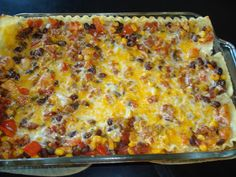 Mexican Chicken Lasagna - switch out the noodles with low carb tortilla shells