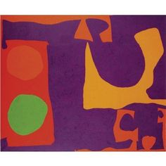 Patrick Heron, Violet, Orange and Reds with Green Disc: March 1972-March 1974