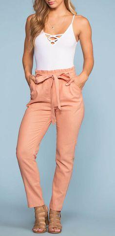 142973849a1c1 Evening Breeze Paperbag High Waisted Pants