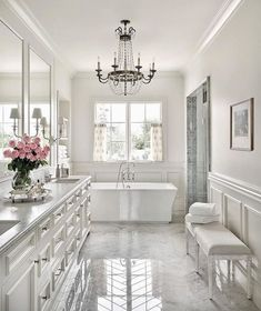 Luxury Bathroom Master Baths Beautiful is definitely important for your home. Whether you pick the Interior Design Ideas Bathroom or Luxury Master Bathroom Ideas, you will make the best Luxury Bathroom Master Baths Bathtubs for your own life. Dream Bathrooms, Beautiful Bathrooms, Modern Bathroom, Luxurious Bathrooms, Master Bathrooms, Master Baths, White Bathrooms, Glamorous Bathroom, White Master Bathroom
