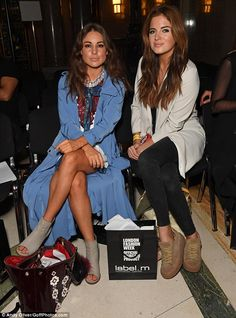 Made In Chelsea's Binky Felstead and Louise Thompson at LFW Live Fashion, Fashion 2017, Fashion Show, London Fashion, Made In Chelsea Binky, Louise Thompson, West London, Sport Casual, Look Chic