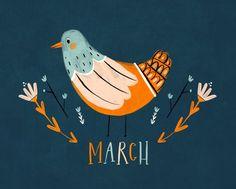Illustration Libby Burns - MARCH