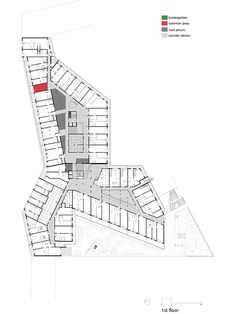 PPAG architects vollendet gebirgshaus in wien – Lena Zinovieva Studio Building Design Plan, Mix Use Building, Building Concept, Architecture Panel, Concept Architecture, Architecture Details, Contemporary Architecture, School Architecture, Hotel Floor Plan