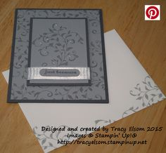 'just because' card created using the First Sight Stamp Set from the Stampin' Up! 2016 Occasions Catalogue.  http://tracyelsom.stampinup.net