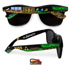 ecfd91d8cb Legend of Zelda custom sunglasses unique video game gift customized gift  for her gift for him boyfriend geek Triforce gamer wayfarer