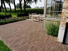 Jardin - Batibouw 2014 - Livios Outside Living, Outdoor Living, Outdoor Decor, Garden Paving, Garden Landscaping, Back Gardens, Outdoor Gardens, Brick Walkway, Barn Renovation