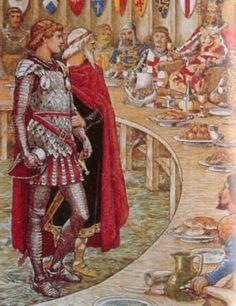 Мерлин приводит Галахада ко двору короля Артура. КОРОЛЬ АРТУР | Король Артур. Герои легенды | Экскалибур | Камелот | Круглый стол