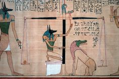 Judgement in the presence of osiris hunefers book of the dead