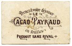 French vintage typography. EPBOT: 2/13/11 - 2/20/11