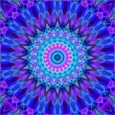 Mandala Kraft der Liebe Poster von Christine Bässler