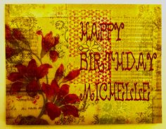 Michelle .. happy birthday card