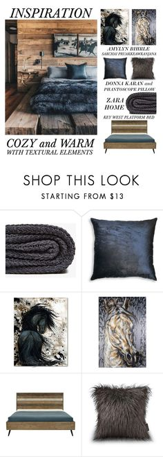 Cozy and Warm by latoyacl on Polyvore featuring interior, interiors, interior design, home, home decor, interior decorating, Zara Home, Donna Karan, NOVICA and rustic
