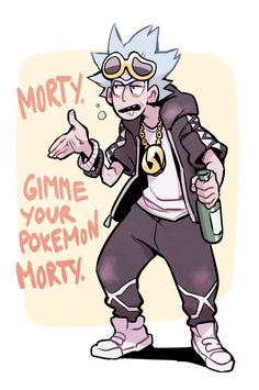 Pokemon meets Rick and Morty Guzma Pokemon, Pokemon Memes, Adult Cartoons, Cool Cartoons, Fan Art, Rick And Morty Crossover, Ricky Y Morty, Wubba Lubba, Dan Harmon