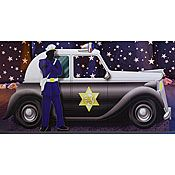 Police Car Standee. Gangster Theme party decor