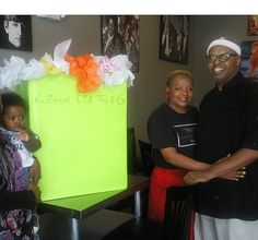 Collection box being delivered to local restaurant for the National Eid Toy and Gift Drive.